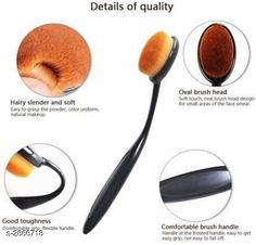 Face Useful Makeup Brush Sets Product Name: Oval Makeup Brush Product Type: Makeup Brushes Description: Ideal for applying, blending and contouring blush and bronzer, giving you the perfect hint of color Perfectly sized to allow for precise and controlled application of powder, or a highlighter on your skin. Package Contains: It Has 1 Pack Of Makeup Brush Sizes Available: Free Size   Catalog Rating: ★4 (1547)  Catalog Name: Premium Choice Makeup Brush Set Vol 1 CatalogID_389462 C51-SC1241 Code: 441-2866718-681