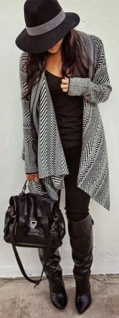 #fall #fashion / geometric print cardigan _________ http://TOMAxALEX.com