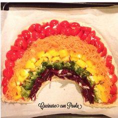 Rainbow Pizza! #sana #gustosa e #bellissima! #pizza #rainbow #arcobaleno #food #vegan #bio video online sul mio canale YouTube e ricetta sul blog!