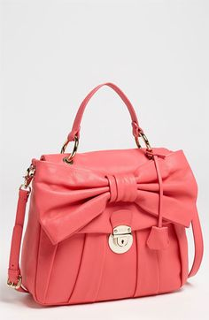 Bow Tie Fashion: RED Valentino Bow Small Leather Satchel