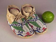 Pair of Sioux Beaded Child's Moccasins C 1920s | eBay