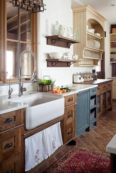 Rustic French Country Cottage Kitchen 28