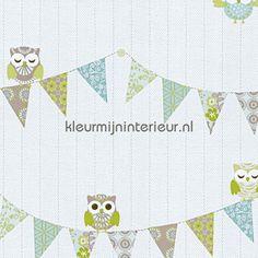 Happy uiltjes feestslinger behang 05585-30 Baby - Peuter Dutch Wallcoverings
