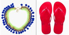 Cast: Pair your neon necklace with your Slim Crystal Havaianas! Spring Fashion, Trainers, Flip Flops, Pairs, Slim, Fashion Outfits, Crystals, Sandals, Sandal