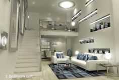 Bedroom, Gramercy Bedroom Loft Condo: Loft Bedroom Condo, The Solution for Small Area