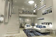 Bedroom, Gramercy Bedroom Loft Condo: Loft Bedroom Condo, The Solution for Small Area