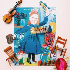 Nathalie Lete pop up paper doll via Little Thing Magazine~Image via Timmy Tian