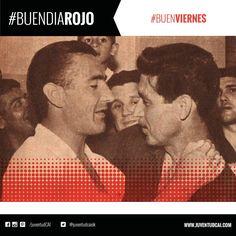 #BuenDiaRojo! #BuenViernes! 😈 Rubén Marino Navarro saluda a Brandao tras obtener el Nacional de 1967.