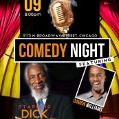 RSVP #CHICAGO: DICK GREGORY LIVE -W/Damon Williams Hosted by @MrStealYourWig and Just Nesh