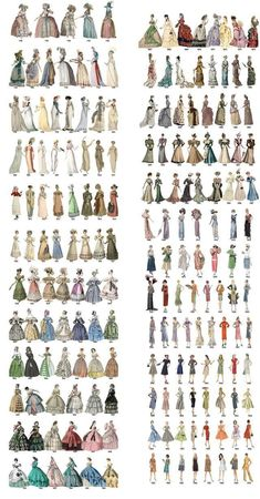Post with 30446 views. The Relatively Unknown Makers behind 15 Everyday Items we all take for grantedPost with 11795 views. Evolution of women's fashion over the course of two centuriesColor choices to make your designs more effectiveColor combinatio Retro Mode, Vintage Mode, Vintage Outfits, Vintage Dresses, Fashion Design Drawings, Fashion Sketches, Historical Costume, Historical Clothing, Victorian Fashion