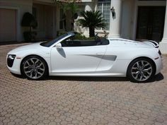 2011 Ibis White Audi R8 5.2L  http://www.iseecars.com/used-cars/used-audi-for-sale