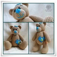 medvídek návod Kamlin Teddy Bear, Toys, Animals, Softies, Fabric Dolls, Animales, Animaux, Toy, Teddybear