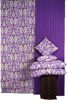 queen size ikat kantha quilt 2 ikat pillow and 2 by maharaniarts, $89.00