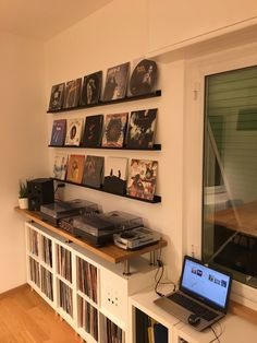 Vinyl Storage Ikea Kallax dj consolle techinics ecler Best Picture For neutral Bed Room For Your Taste You are looking for something, a Home Studio Musik, Music Studio Room, Vinyl Record Display, Vinyl Record Storage Ikea, Record Shelf, Record Stand, Record Cabinet, Lp Storage, Bedroom Storage