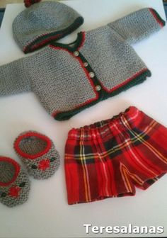 No pattern - just idea. Crochet For Boys, Knitting For Kids, Baby Knitting, Crochet Baby, Knit Crochet, Brei Baby, Teddy Bear Clothes, Baby Dress Patterns, Young Fashion