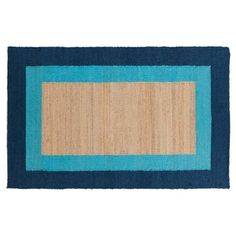Check out this item at One Kings Lane! Astoria Jute Rug, Bright Blue $629