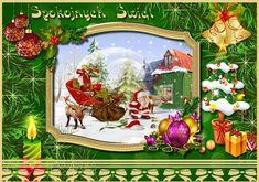Święta Bożego Narodzenia: Animowane kartki życzeniami bożonarodzeniowymi Some Ideas, Christmas Tree, Holiday Decor, Handmade, Diy, Crafts, Painting, Christmas, Teal Christmas Tree