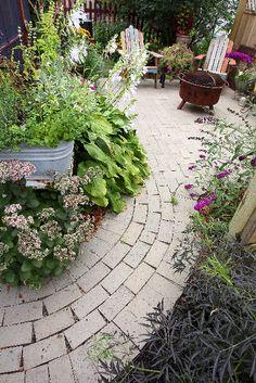 walkway. Driveways, Walkways, Outdoor Spaces, Outdoor Decor, Sidewalks, Garden Landscaping, Stepping Stones, Home And Garden, Gardens