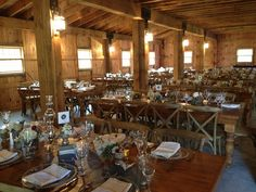Livingston Weddings at Oak Hill. Hudson NY  Barn wedding. Wooden tables
