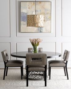 "-403R Bernhardt ""Rory"" Dining Table & ""Sue Ann"" Chair"