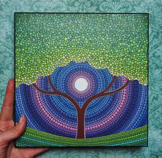Colores impresión laminada en madera primavera por ElspethMcLean