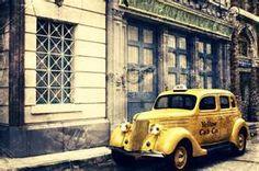 Один из первых жёлтых кэбов в Париже