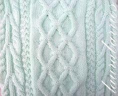 Mi nombre es Laura Barrios y te invito a conocer mi blog de tejidos.: Verde agua.