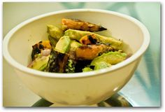 Grilled carrot and avocado salad from the road that forks
