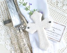 Baptism Easter Favors Cross Salt Dough Ornament Etsy :: Your place to buy and sell all things handmade