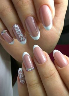 38 Gorgeous French Tip Nails Designs for a Stylish Women Ideas 2019 Part 12 38 Gorgeous French Tip Nails Designs for a Stylish Women Ideas 2019 Part french nail designs; French Tip Nail Designs, French Nail Art, French Tip Nails, Acrylic Nail Designs, Nail Art Designs, Nail Design Glitter, Nail Design Spring, Glitter Manicure, Winter Nail Designs