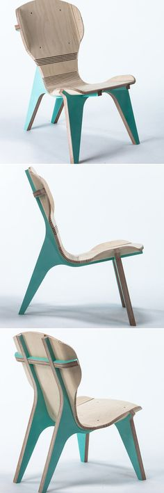 The kerFchair is a flat pack furniture piece designed by Boris Goldberg. He has crafted this seating furniture to show that in some cases function is not always superior to the form. Along with a detailed structure, this chair holds its practicability making it different from other similar designs. The material used to make the kerFchair is CNC-machined birch wood. Wood Chair Design, Furniture Design, High Back Armchair, Cnc, Birch, Cases, Flat, Classic, Derby