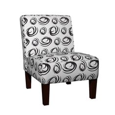 Maran Slipper Chair featuring BWSwirls by ghennah | Roostery Home Decor