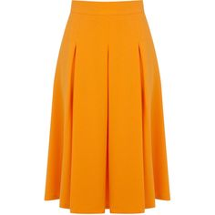 Miss Selfridge Crepe Midi Skirt (35 CAD) ❤ liked on Polyvore featuring skirts, bottoms, orange, calf length skirts, mid-calf skirt, miss selfridge, crepe skirt and orange skirt