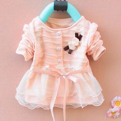 Wholesale Product Snapshot Product name is Kids clothes new 2013 autumn Girls long-sleeved t-shirt Girls baby dress kids clothing dress chiffon top children's lace flower