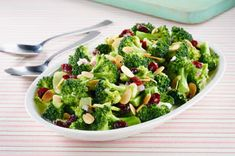 SCD Crunchy Broccoli Salad (*Use SCD legal mayo / dried cranberries & substitute 1 tbsp honey for sugar...)