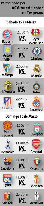 Fútbol Recomendado para este fin de semana: 15 al 16 de Marzo.  http://blogueabanana.com/deportes/futbol-recomendado-15-al-16-marzo.html