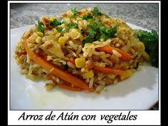 Arroz de atún con vegetales, muy rico y facilito. - YouTube