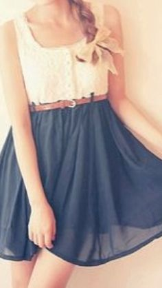 Love this simple dress!! Can I please get this for 8th grade promotion?!!
