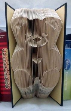 New origami pattern design book folding Ideas Folded Book Art, Paper Book, Types Of Folds, Old Book Crafts, Teddy Bear Design, Origami Patterns, Recycled Books, Book Folding Patterns, Useful Origami
