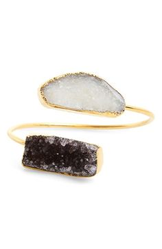 Sole+Society+Drusy+Agate+Stone+Station+Cuff+available+at+#Nordstrom
