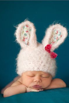 Cotton Candy Bunny Hat  Vintage Inspired Easter by NoraAndFinn