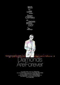 Diamonds Are Forever (1971)  - Alternative Movie Poster by Owain Wilson ~ #alternativemovieposter #owainwilson #bondmoviesalternativeposters
