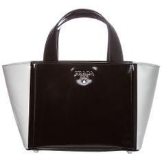 My Style: Black and white, color-blocked Prada satchel.  #Spring #Fashion.  #Spring #Fashion