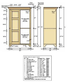 Woodworking plan for TV cabinet. I'm thinking it could modified to be a storage armoire???