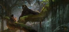Vance Kovacs - Concept Art for The Jungle Book