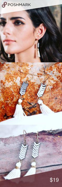 Festival Arrow Earrings brush work for an antique feel, festival worthy, zinc alloy, beautiful mix-media combo for a refreshing look Jewelry Earrings