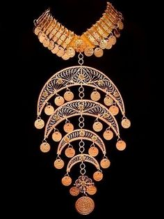 Large Bedouin Tribal Coins Gypsy Necklace by thenile on Etsy, $15.00
