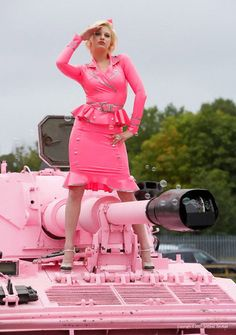 pink rubber military uniform
