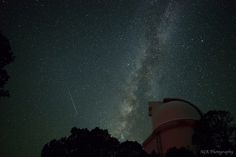 Stargazer Sergio Garcia Rill sent in a photo of a Perseid fireball captured early August 11, 2013, from the top of Mt. Locke in the Davis Mountains of west Texas. The Milky Way glows above, and below stands the the Harlan J. Smith telescope of the McDonald Observatory.