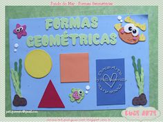 Doce Arte by Pati Guerrato: Decoração de sala de aula - Fundo do mar Diy Home Crafts, Crafts For Kids, Panda Decorations, Class Decoration, Festival Decorations, Classroom Decor, Flora, Alice, Education